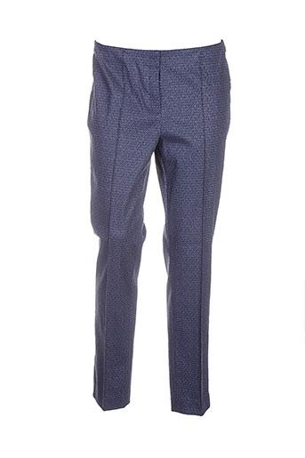 vera mont pantalons femme de couleur bleu