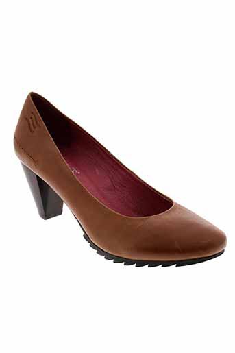 crinkles chaussures femme de couleur marron