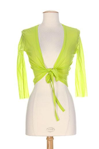 Gilet manches longues vert FEHU pour femme