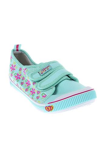 super gear chaussures fille de couleur vert