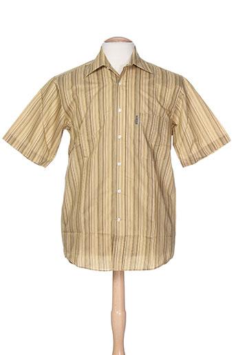 karl smith chemises homme de couleur jaune