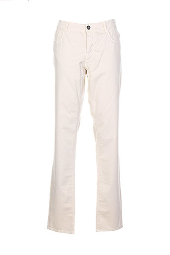 trussardi jeans pantalons homme de couleur beige