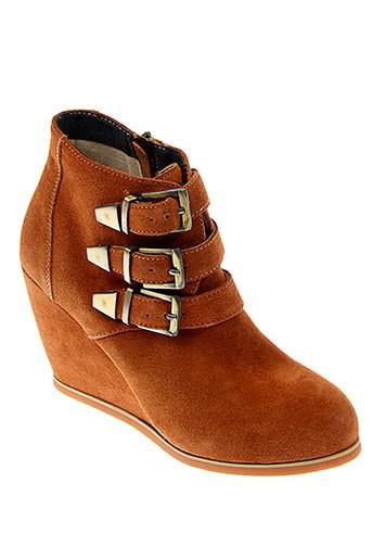 essentiel chaussures femme de couleur marron