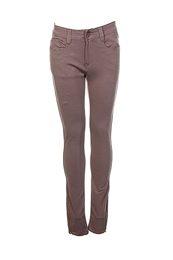 bs jeans pantalons femme de couleur marron