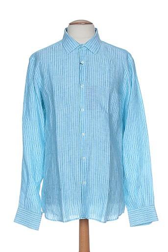 pal zileri chemises homme de couleur bleu