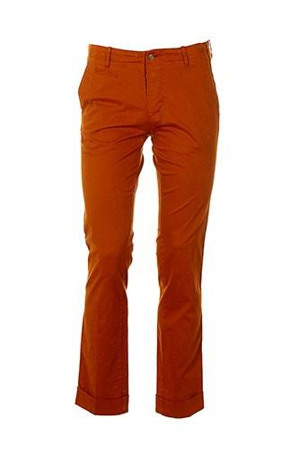 club of gents pantalons homme de couleur orange