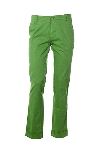 club of gents pantalons homme de couleur vert