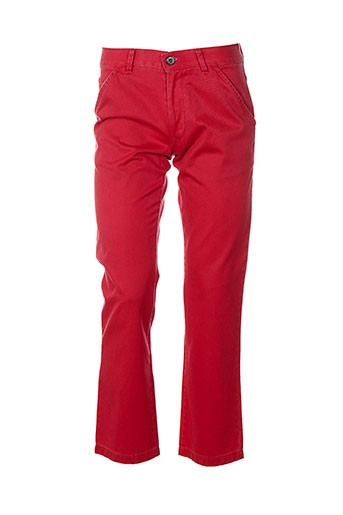 club of gents pantalons homme de couleur rouge