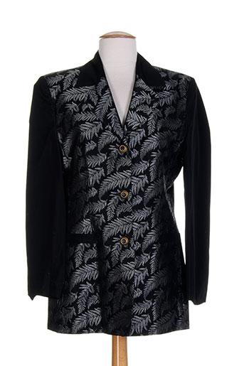 coco menthe vestes femme de couleur noir