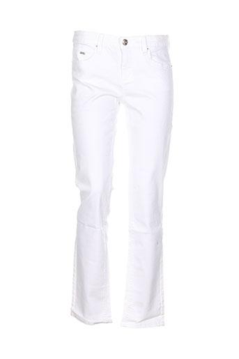 tom tailor pantalons femme de couleur blanc