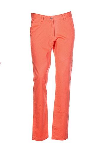 vicomte arthur pantalons femme de couleur orange