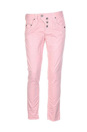 tom tailor pantalons femme de couleur rose