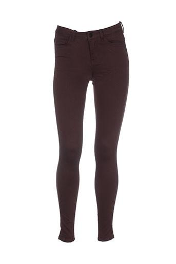 pieces pantalons et decontractes femme de couleur marron