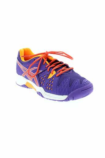 asics chaussures femme de couleur violet