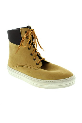 natural et world boots femme de couleur jaune