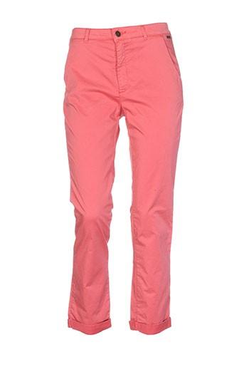 salt EFFI_CHAR_1 pepper pantalons femme de couleur rouge