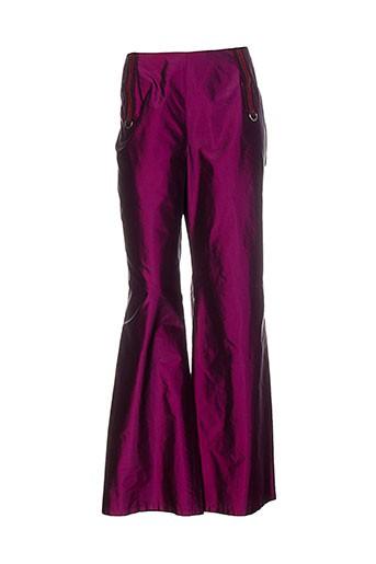 lecoanet hemant pantalons femme de couleur violet