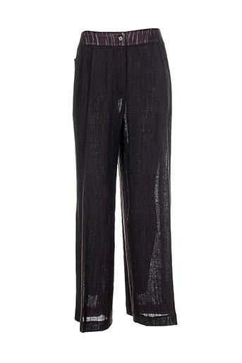 atika pantalons femme de couleur marron