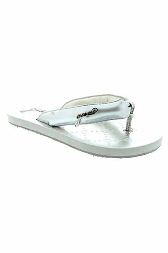 guess tongs fille de couleur gris