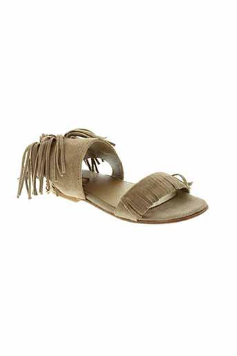 oca et loca sandales et nu et pieds fille de couleur beige