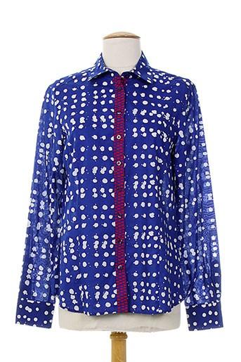 eterna chemises femme de couleur bleu