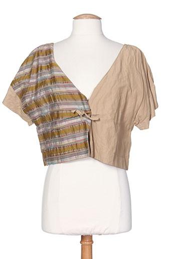 Veste casual beige BELLOCOTON pour femme