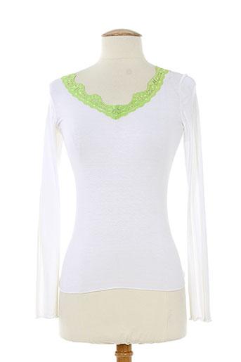 shyde t-shirts / tops femme de couleur blanc