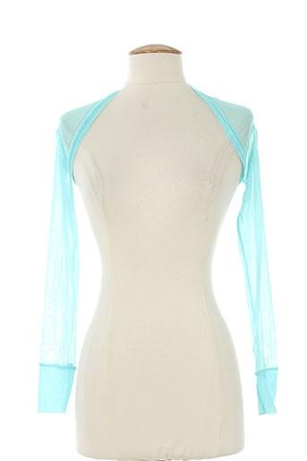 rectangle blanc vestes femme de couleur bleu