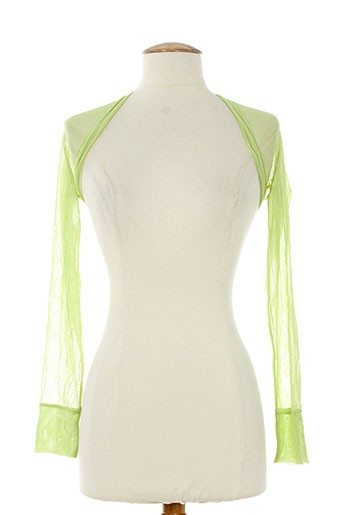 rectangle blanc vestes femme de couleur vert