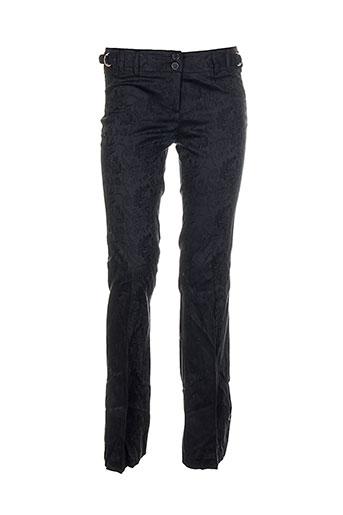 shyde pantalons femme de couleur noir