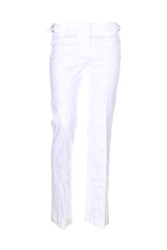 shyde pantalons femme de couleur blanc
