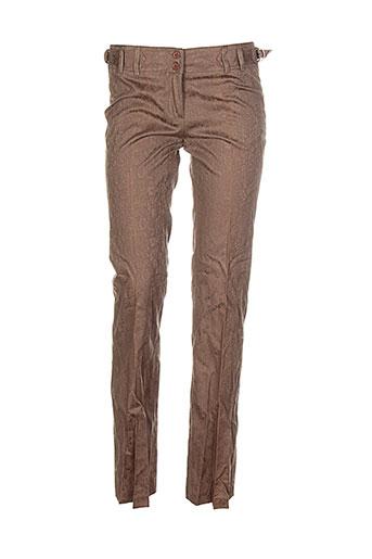 shyde pantalons femme de couleur marron