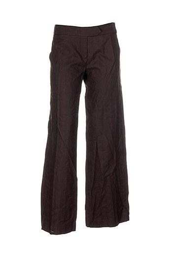 les et petites et collections pantalons et decontractes femme de couleur marron