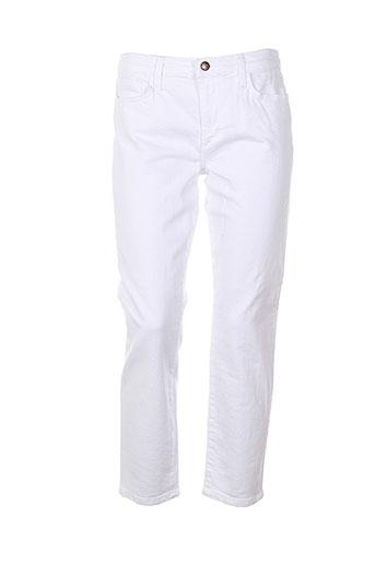 joe s pantalons femme de couleur blanc