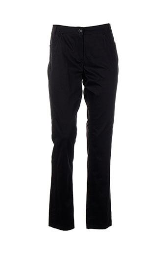 concept k pantalons femme de couleur noir