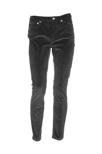 a.p.c. pantalons femme de couleur gris