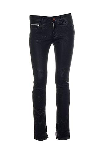 rockstar pantalons femme de couleur noir