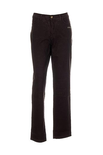 aqua pantalons femme de couleur marron