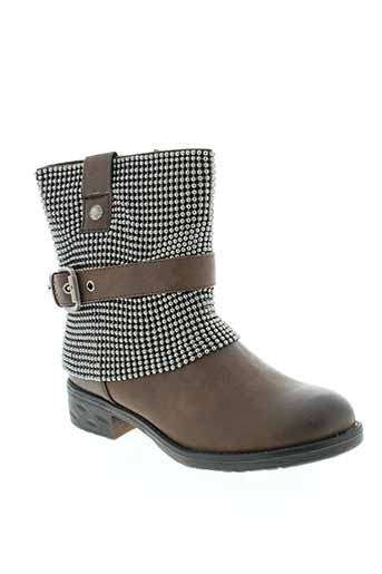stephan boots femme de couleur marron
