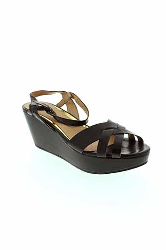i et s et london sandales et nu et pieds femme de couleur marron