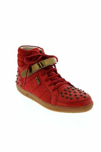 bee et fly baskets femme de couleur rouge