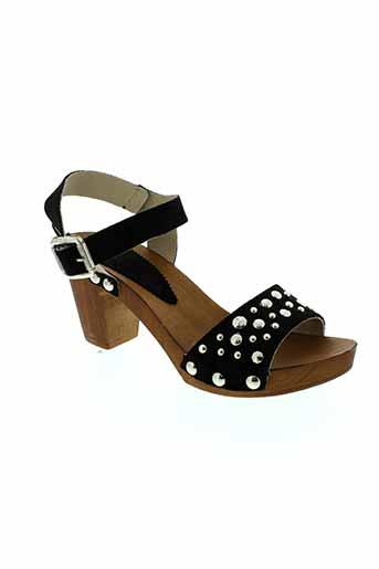 venezia sandales et nu et pieds femme de couleur noir