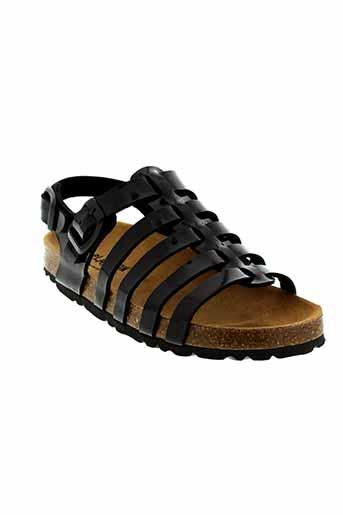plakton sandales et nu et pieds fille de couleur noir