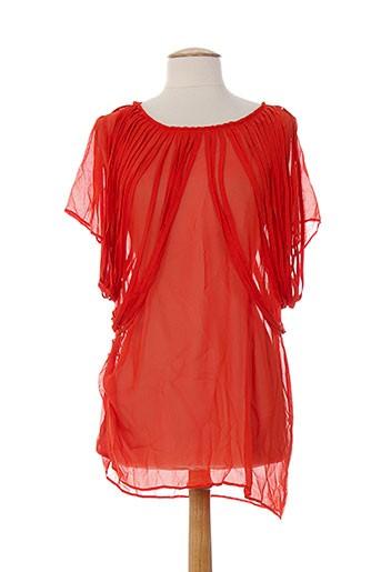 anne turtaut chemises femme de couleur orange