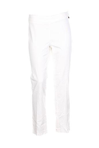anna scott pantalons femme de couleur blanc