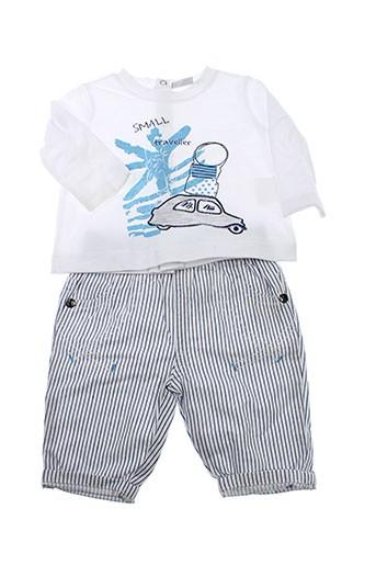 3 et pommes t et shirt et pantalon garcon de couleur bleu