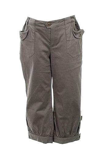 jean bourget pantalons fille de couleur gris