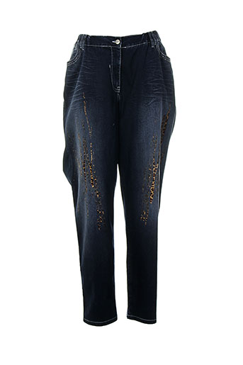sempre jeans femme de couleur bleu