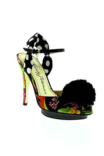 beverly et feldman sandales et nu et pieds femme de couleur noir