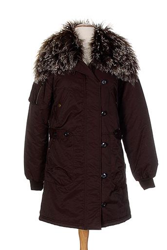 belair manteaux femme de couleur marron